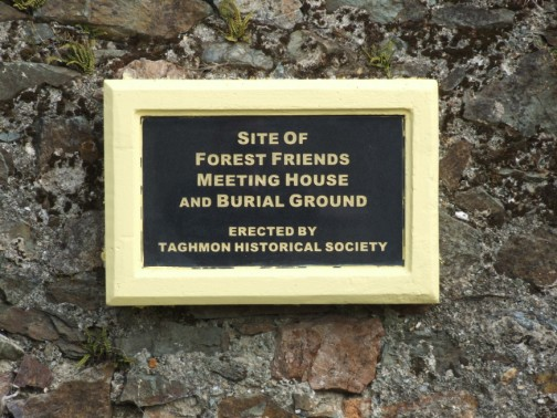 Plaque at entrance erected by Taghmon Historical Society