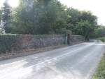 Front boundary wall on R744 approaching from Blackwater