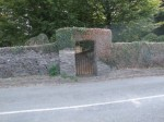 Entrance gate to Cooladine Burial Ground