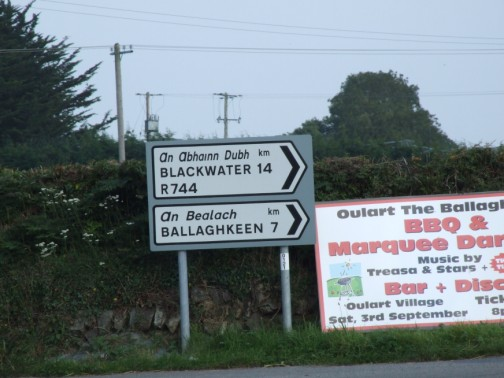 Sign at Cooladine cross-roads