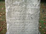 Inscription on gravestone of Thomas Holme in Philadelphia